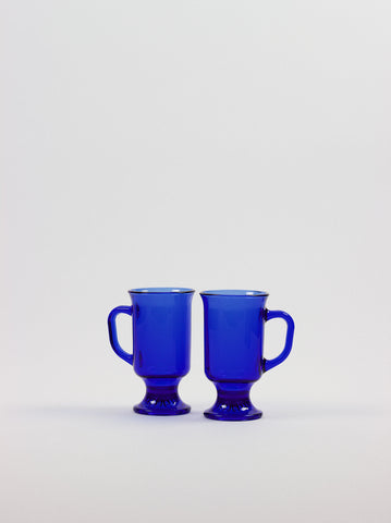Cobalt Blue Glass Mug Set