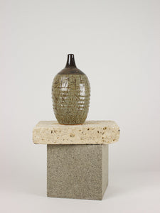 Ribbed Stoneware Vessel