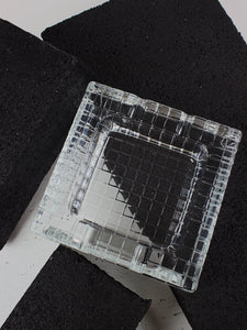 Gridded Glass Ashtray