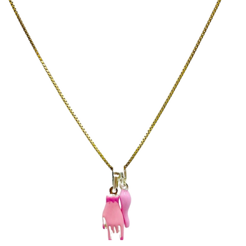 Horned Hand Charm Necklace | Bella Luck Charms