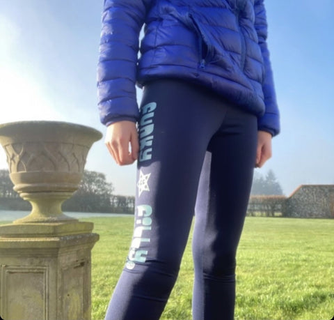 Junior equestrian Riding Leggings personalised - Funky Filly