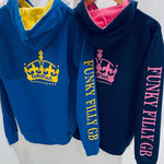 NEW funky filly Contrast Crown Hoodie - Funky Filly