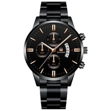 Load image into Gallery viewer, SHAARMS Luxury Men  Business watches Fashion black Belt Date Sport watch male Quartz Wristwatch Relojes Hombre 2020