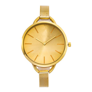 Luxury Gold Watches Women Stainless Steel Wrist Watch