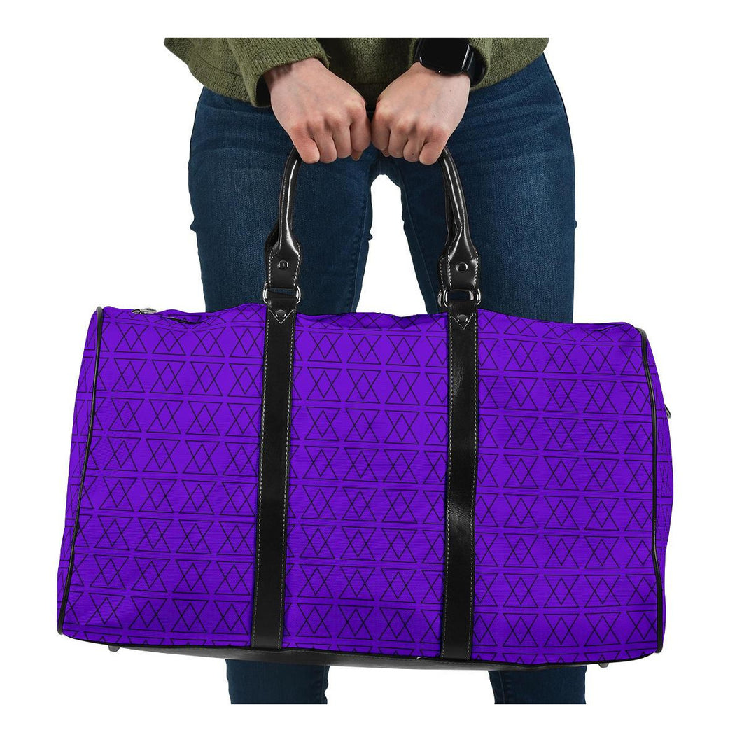 The Shufflez - Travel Bag (Purple with Black) - trendybyjoey,.com