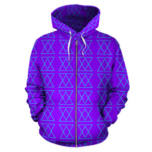 The Shufflez zipper hoodie Neon Purple with Blue - trendybyjoey,.com