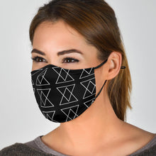 Load image into Gallery viewer, 'The Shufflez' Fabric Face Mask w 2 FREE filters (BLK) - trendybyjoey,.com