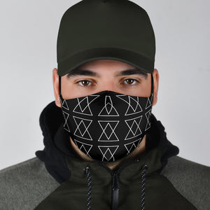'The Shufflez' Fabric Face Mask w 2 FREE filters (BLK) - trendybyjoey,.com