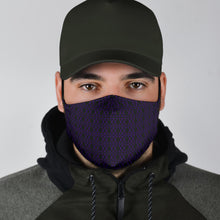Load image into Gallery viewer, The Shufflez Fabric Face Mask (Black with Orange) - trendybyjoey,.com
