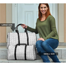 Load image into Gallery viewer, The Shufflez - Travel Bag (White with Black) - trendybyjoey,.com