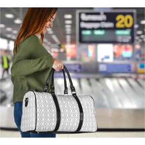 The Shufflez - Travel Bag (White with Black) - trendybyjoey,.com