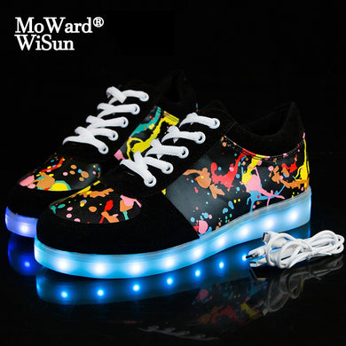 Size 30-44 Glowing Sneakers for Kids & Adult LED Shoes with Lighted up Sole LED Slipper for Children Boys Girls Luminous Shoes - trendybyjoey,.com