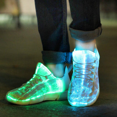 Summer Boy Luminous Glowing Sneakers Men Women Girls Kids LED Light Shoes Children Flashing With Light Adults USB Recharge Shoes - trendybyjoey,.com