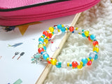 "NEW! DPB36 ""Happy Moments"" Charmed Beaded Double Coiled Bracelet"