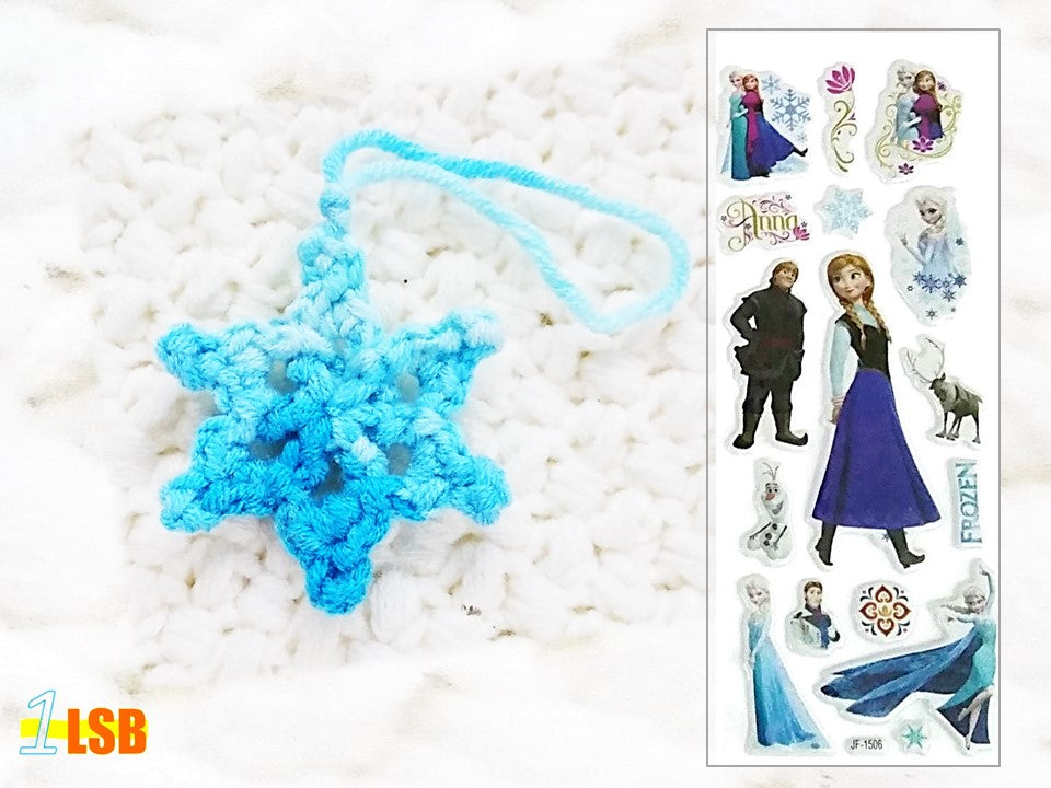 NEW! OMC01A Pretty Snowflake Crochet Merry Charm Set A + Free