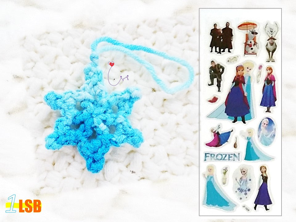 NEW! OMC01D Pretty Snowflake Crochet Merry Charm Set D + Free