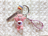 "SP111 ""Blessed & Loved"" Care Bear Merry Charm Key Holder"