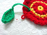 "NEW! THC10  ""Garden Pretty"" 3D Charmed Crochet Coaster"