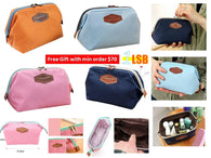 [Min Order $70 FREE GIFT] WFG02 Pretty Double Zippers Korean Style Pouch
