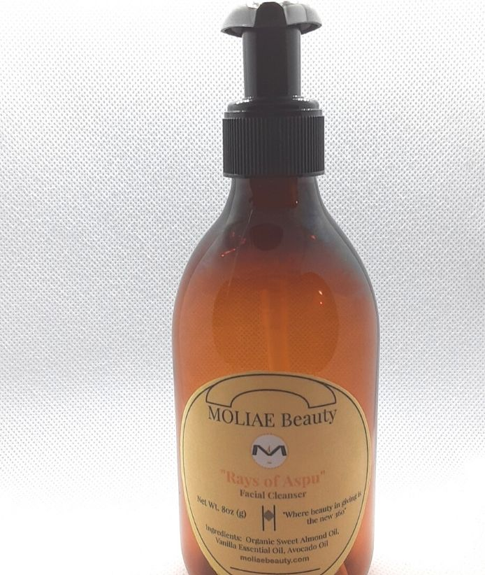 MOLIAE Beauty Facial Cleanser - Rays of Aspu with Organic Sweet Almond