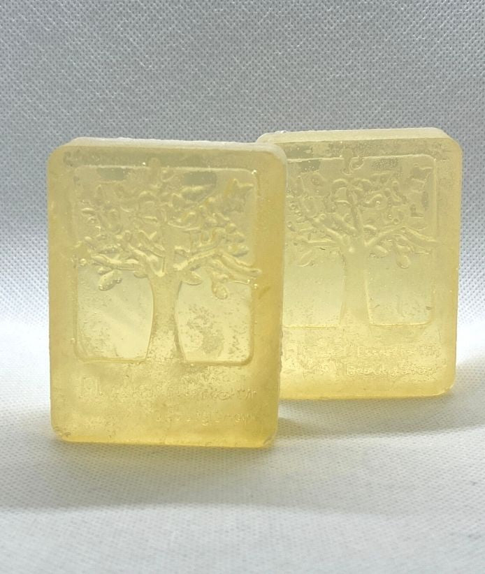 ⭐  (2) GOLD Bars Soap - Honey, Argan Oil and Sandalwood with Egyptian Geraniums