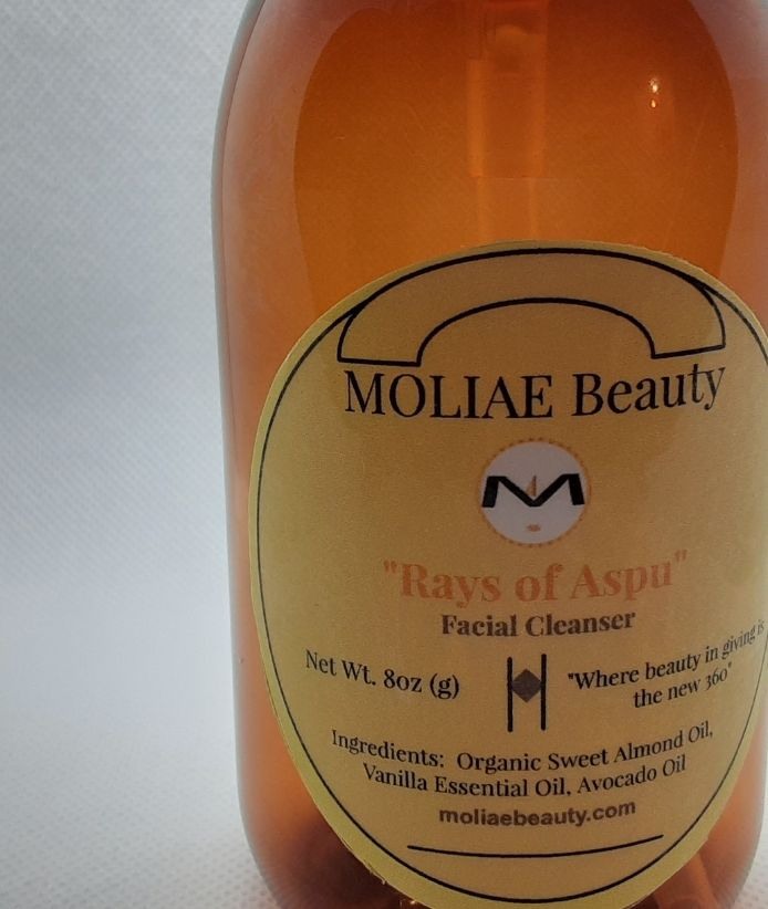"⭐  Facial Cleanser - Sweet Almond and Vanilla ""Rays of Aspu"""