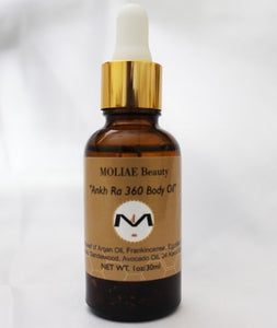 ⭐  MOLIAE Ankh Ra 360 Body Oil - Argan Oil, Frankincense, Royalty in a Bottle