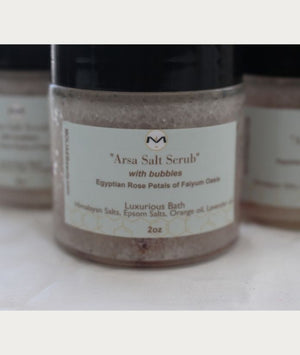 ⭐ Arsa Salt Scrub with Bubbles