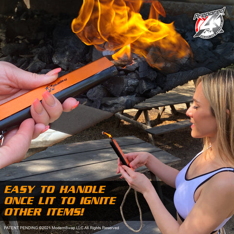 fire starter demonstration prepared4x new product launch survival tool