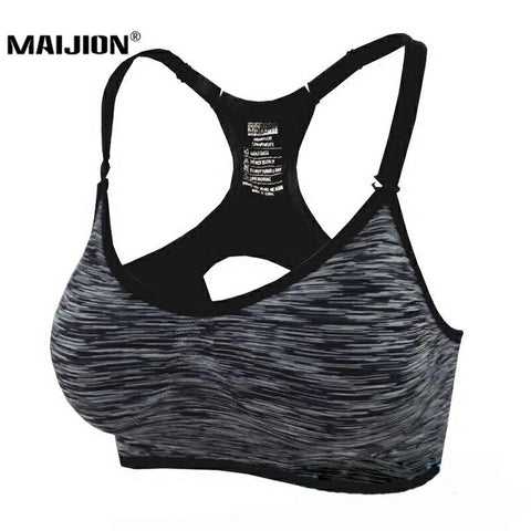 Adjustable Spaghetti Straps Padded Sports Bra