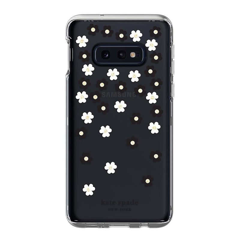 Kate Spade New York Protective Hardshell Samsung Galaxy S10e - Black/White/Gems/Clear