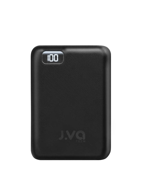 J.VA Tech 10,000mAh Dual Output 2.4A - Black (Bundle Type-C 1.0m Braided)