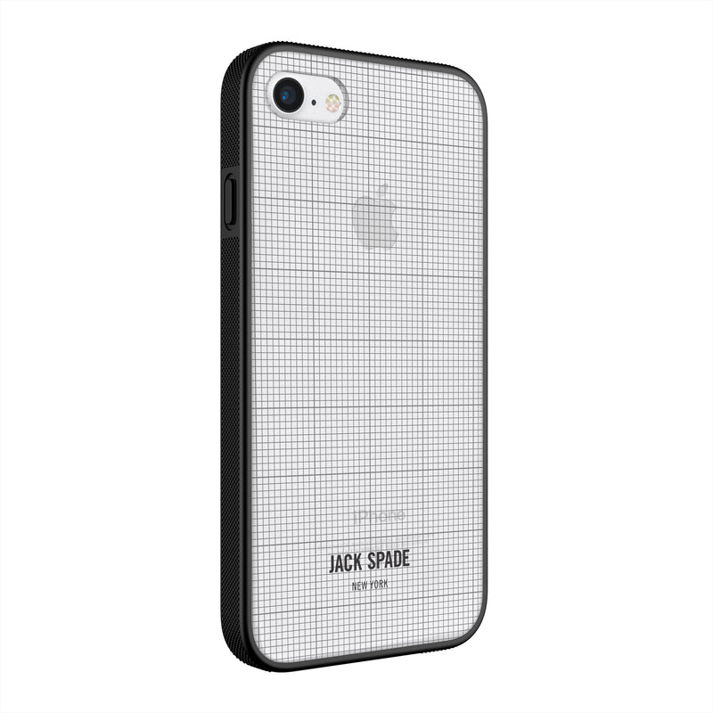 Jack Spade iPhone 7 Clear Case - Graph Check/Clear