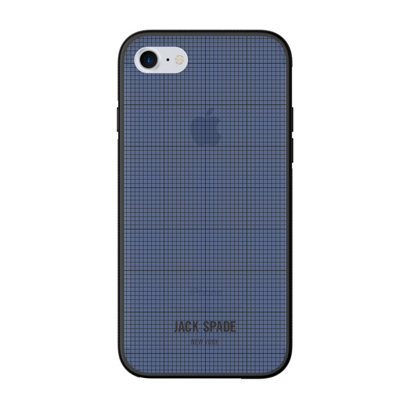 Jack Spade iPhone 7 Clear Case - Graph Check/Navy