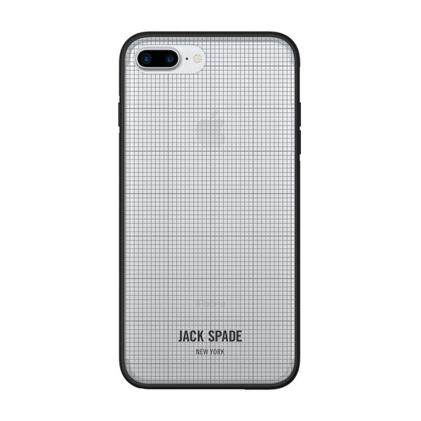 Jack Spade iPhone 7 Plus Clear Case - Graph Check/Clear