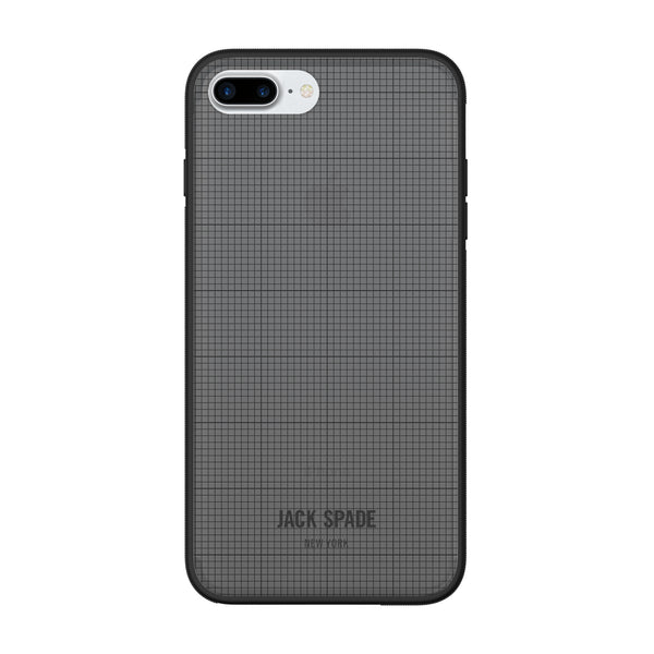 Jack Spade iPhone 7 Plus Clear Case - Graph Check/Smoke