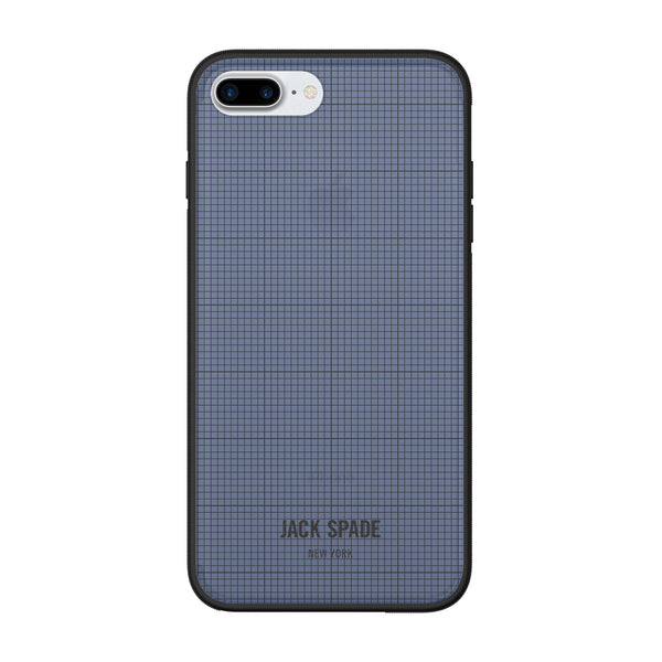 Jack Spade iPhone 7 Plus Clear Case - Graph Check/Navy