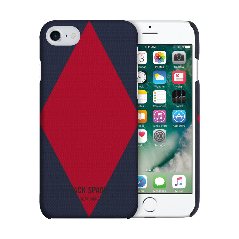 Jack Spade iPhone 7 Snap Case - Diamondback Navy/Cherry