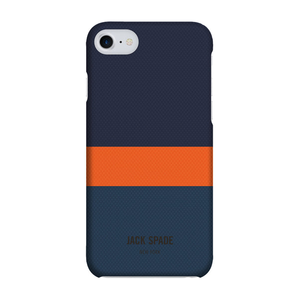 Jack Spade iPhone 7 Snap Case - Horizontal Stripe Navy/Orange