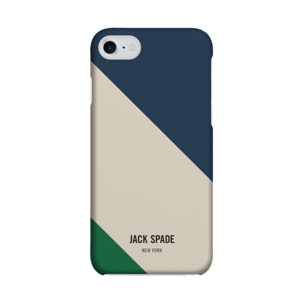 Jack Spade iPhone 7 Snap Case - Rep Stripe Cream/Blue/Green
