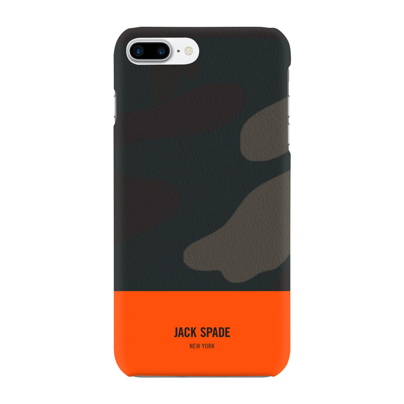 Jack Spade iPhone 7 Plus Snap Case - Camo/Orange Dipped