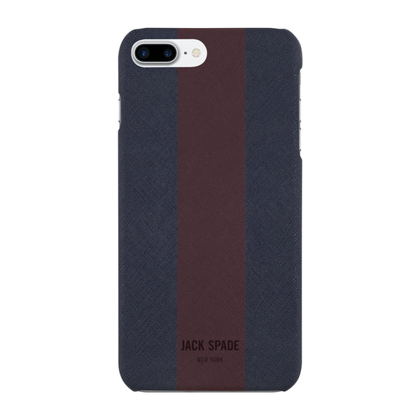 Jack SpadeiPhone 7 Plus Snap Case - Racing Stripe Navy Barrow/Burgundy