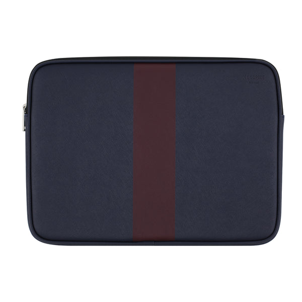 "Jack Spade Racing Stripe Sleeve for 13"" Laptops - Navy/Burgundy Stripe"