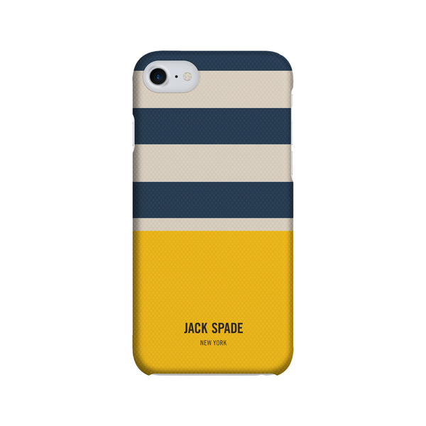 Jack Spade iPhone 7 Snap Case - Stripes & Dipp Cream/Blue/Yellow