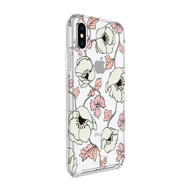 Kate Spade New York iPhone X Protective Hardshell Case - Dreamy Floral Cream/Rose Dew