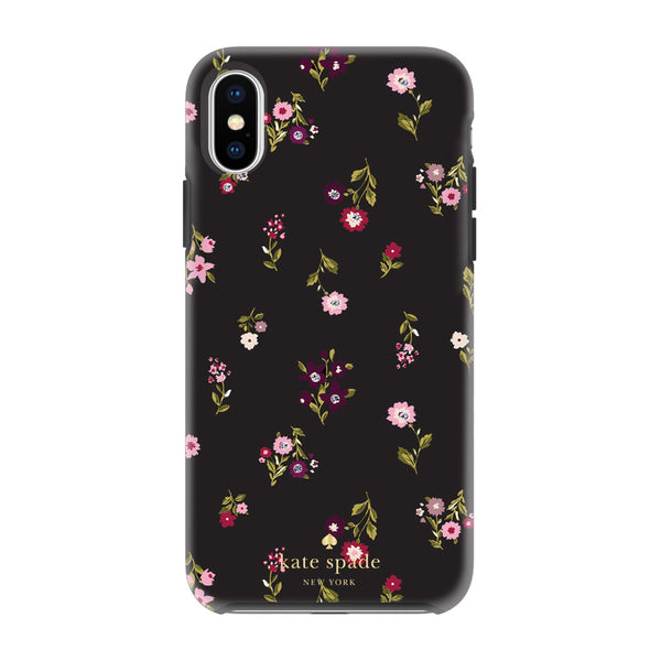 Kate Spade New York iPhone X Protective Hardshell Case - Spriggy Floral Multi/Black/Gems
