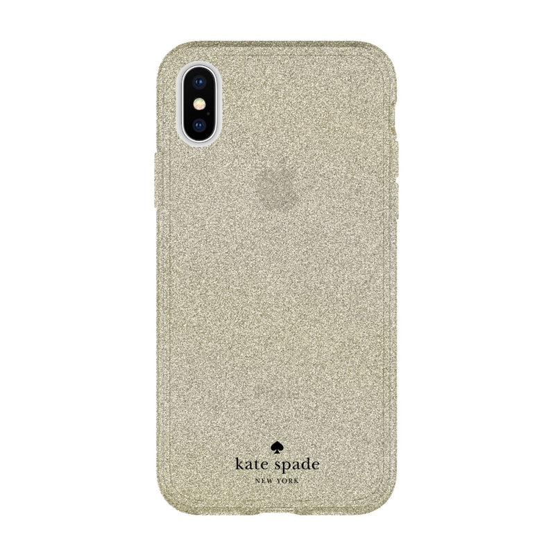 Kate Spade New York iPhone X Flexible Glitter Case - Gold Glitter