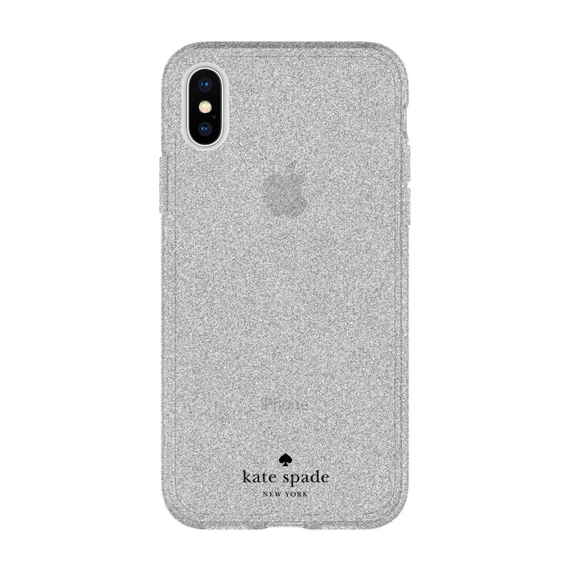 Kate Spade New York iPhone X Flexible Glitter Case - Silver Glitter