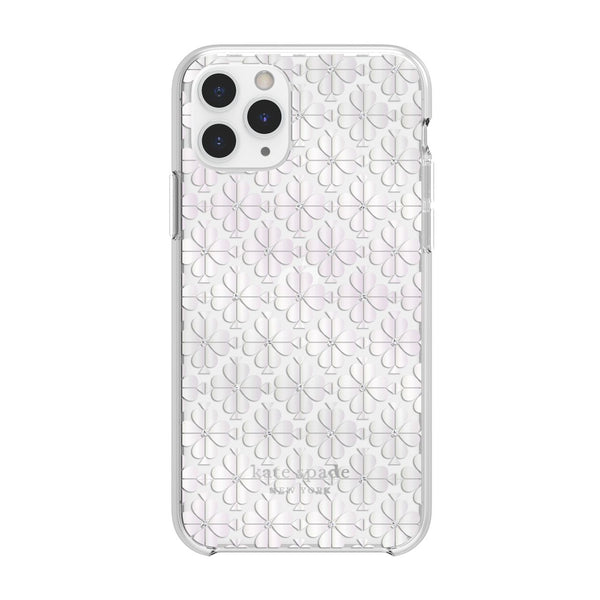 Kate Spade New York Protective Hardshell Case for iPhone 11 Pro Spade Flower Pearl Foil/Crystal Gems