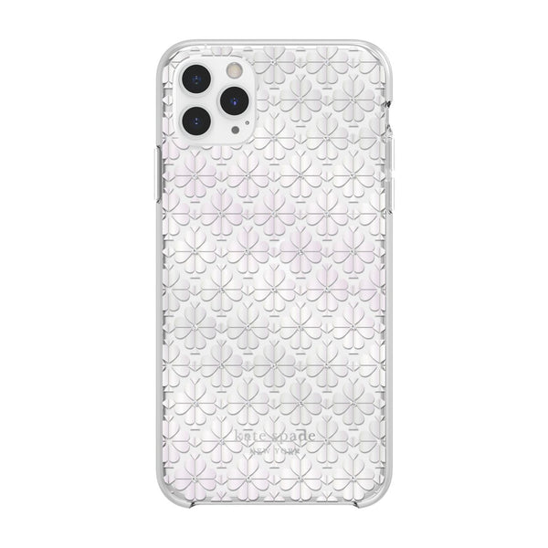 Kate Spade New York Protective Hardshell Case for iPhone 11 Pro Max Spade Flower Pearl Foil/Crystal Gems